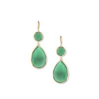 Margaret Elizabeth Two Stone Drops in Green Onyx