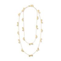 Ashiana London Hammered Gold Layered Necklace
