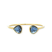 Margaret Elizabeth Teardrop Bangle in Navy Quartz