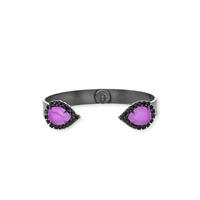 Loren Hope Small Sarra Gunmetal Cuff in Electric Purple