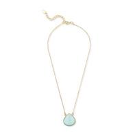 Ashiana London Teardrop Pendant Necklace in Aqua