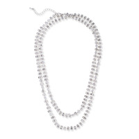 Juliet + Co Long Crystal Chain Necklace