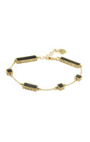 House of Harlow 1960 Long Rains Station Bracelet in Black