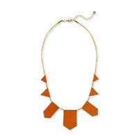 House of Harlow 1960 Five Station Necklace in Tomato