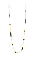 House of Harlow 1960 Long Rains Station Necklace in Black