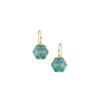 Trina Turk Hexagon Stone Drop in Blue