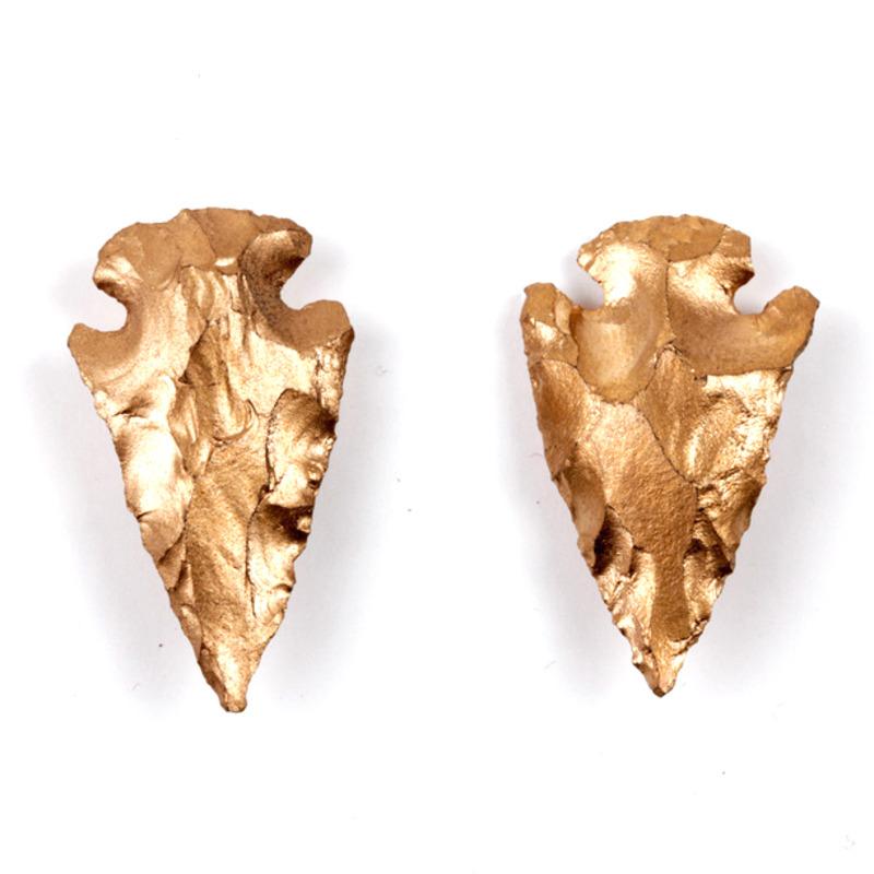 Serefina Arrowhead Studs in Gold