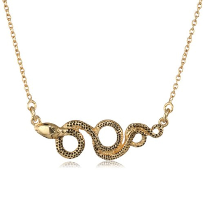 Viento Viper Necklace in Gold