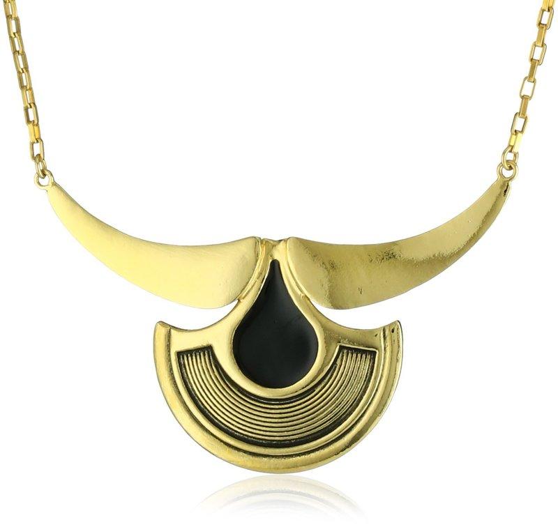 Viento Condor Necklace in Gold and Black