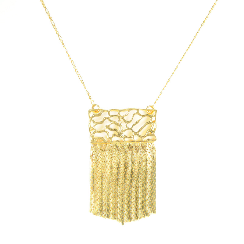 Viento Driftwood Chain Necklace in Gold