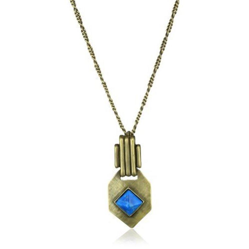 Viento Flamenco Stone Necklace in Gold