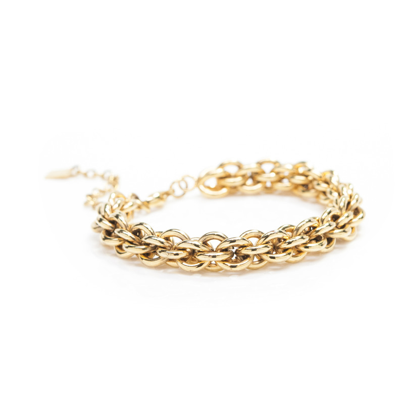 Viento Poppy Bracelet in Gold