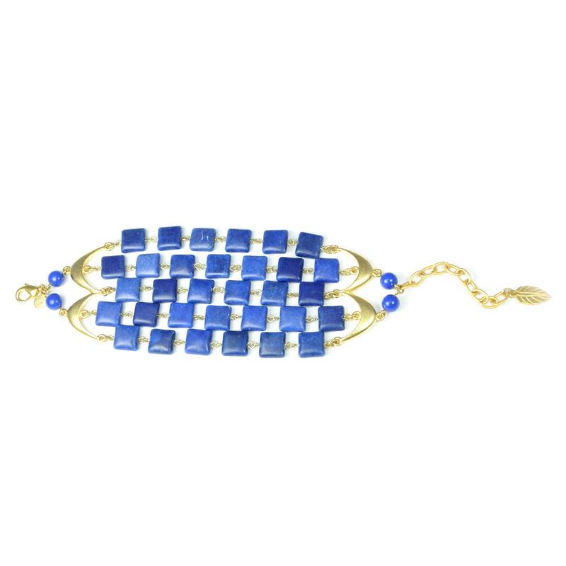 David Aubrey Multi-Strand Sodalite Bracelet