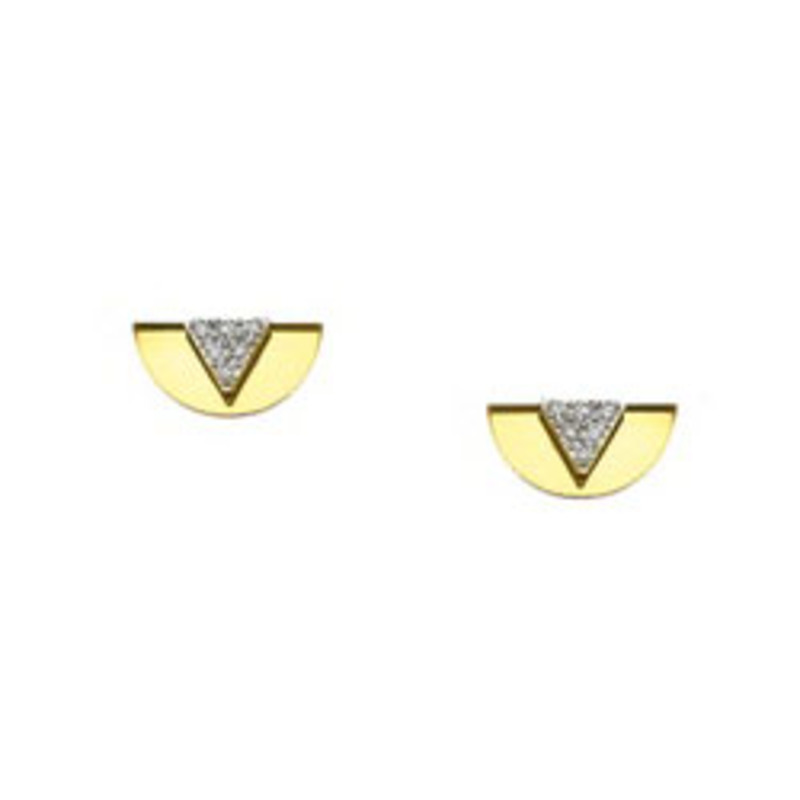 Sandy Hyun Triangle and Mirror Earrings