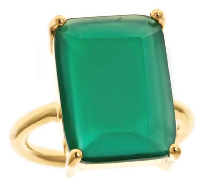 Margaret Elizabeth Emerald Cut Ring in Green Onyx