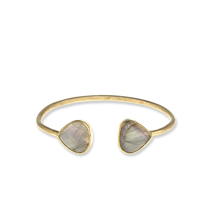Margaret Elizabeth Teardrop Bangle in Labradorite