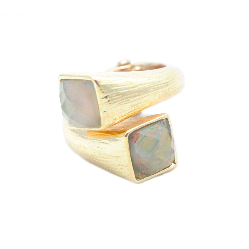 Urban Gem Gold Sunset Wrap Ring