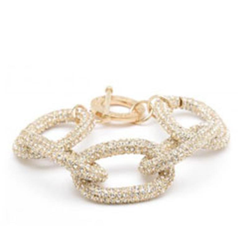 CC Skye Pave Chunky Chain Link Bracelet