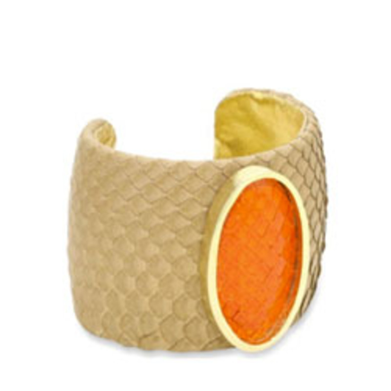 Ted Rossi Colorblock Python Cuff
