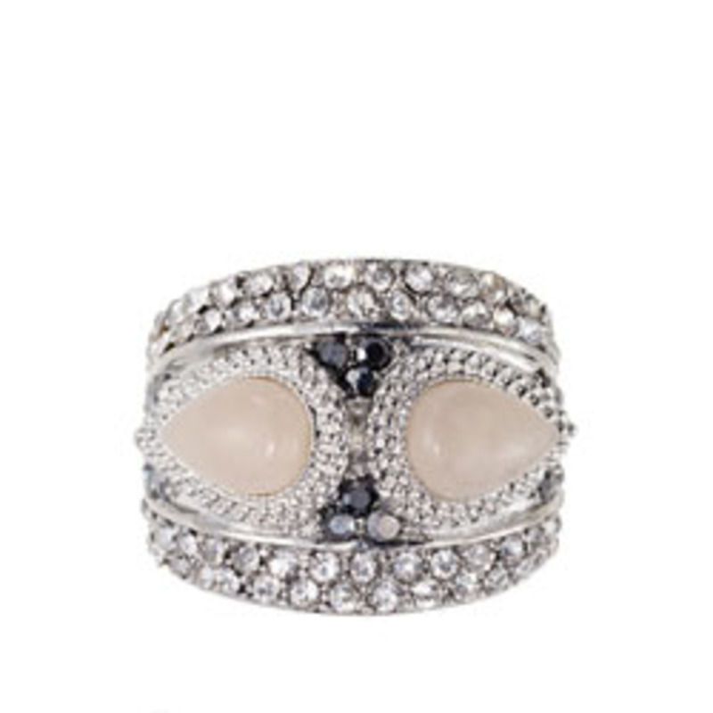 Samantha Wills Pave ring with Two Pink Stones