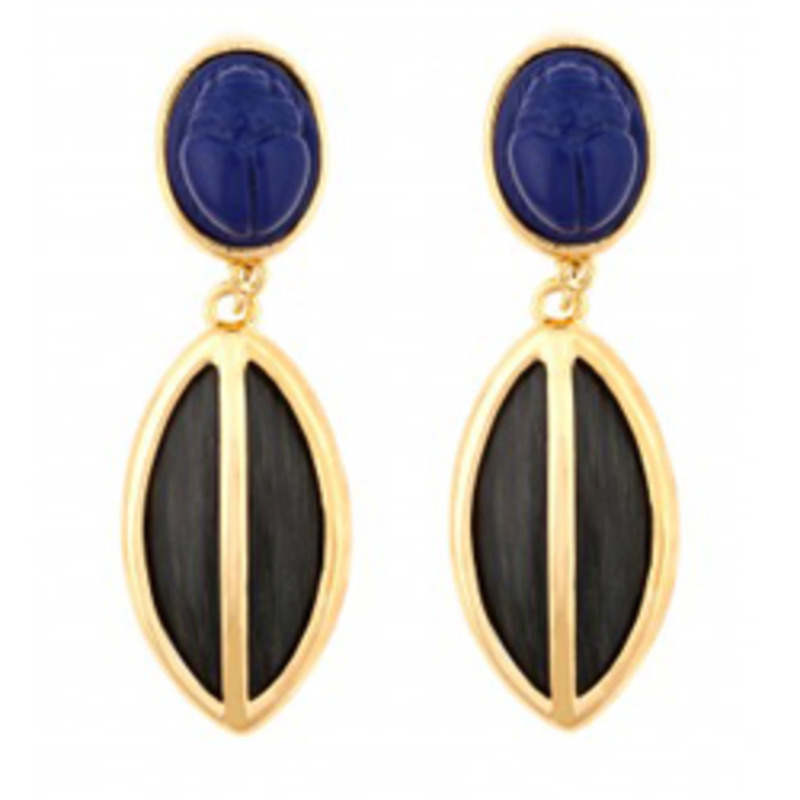 Kara Ross Resin Drop Earrings