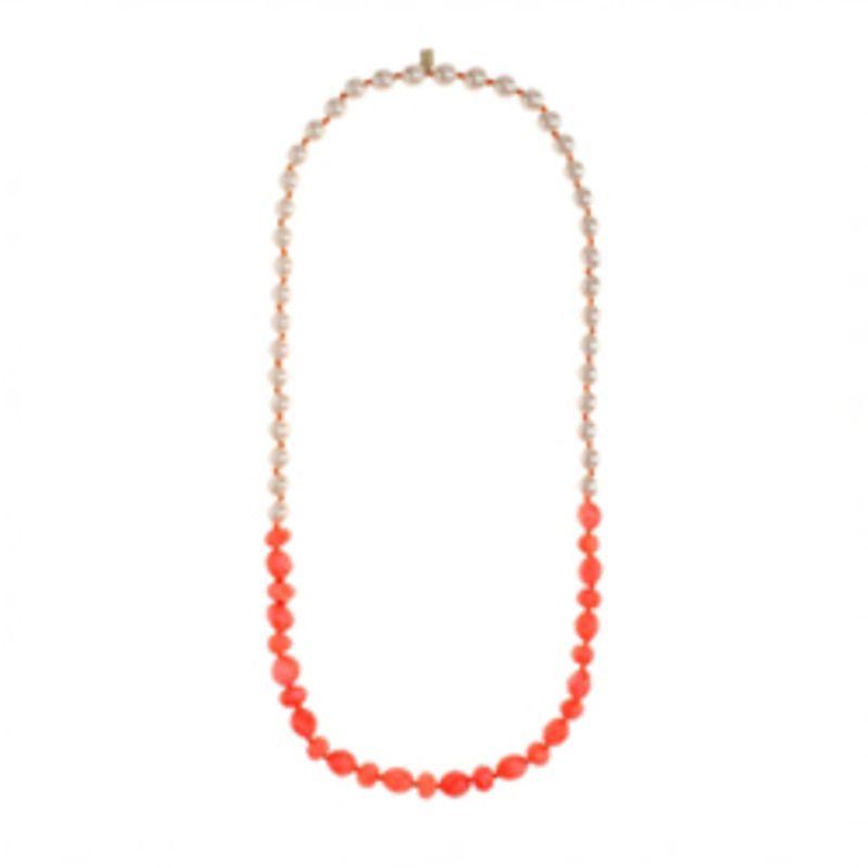 Kendra Scott Single Strand Orange Nugget Necklace