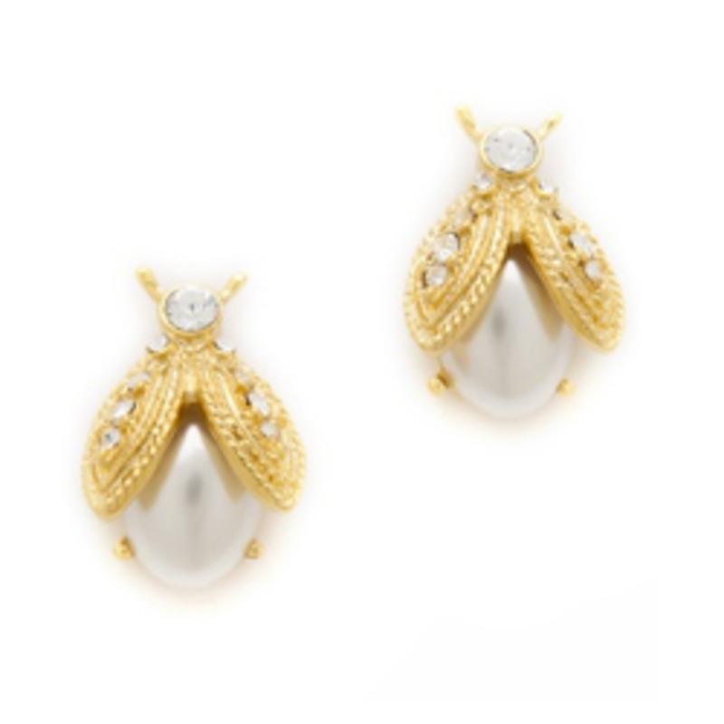 Kenneth Jay Lane Lady Bug Earrings