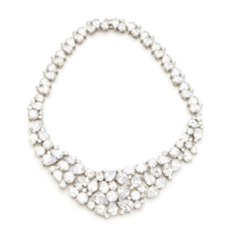 Kenneth Jay Lane Diamond Bib Necklace