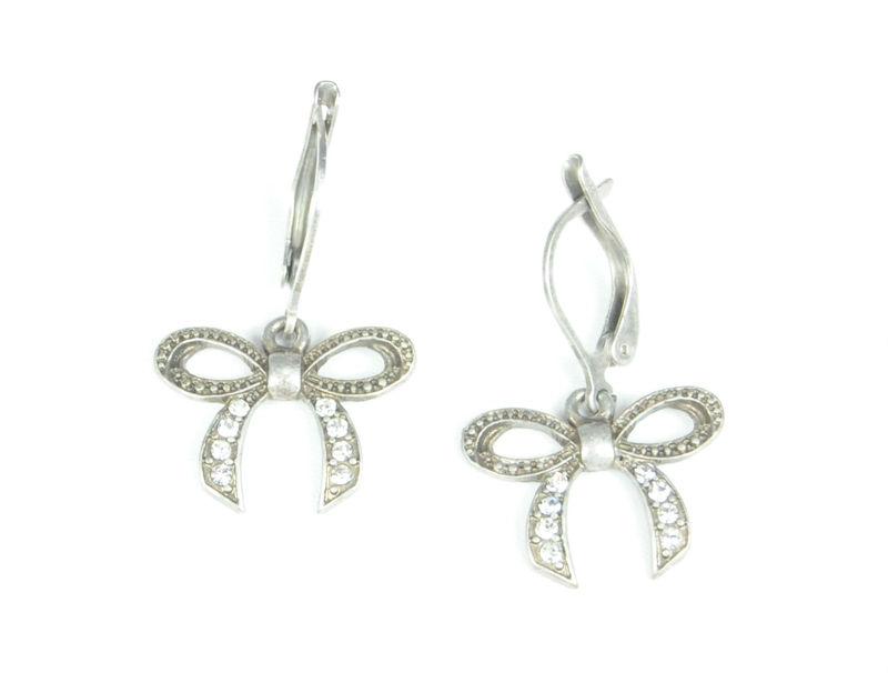 Urban Gem Crystal Bowtie Earrings