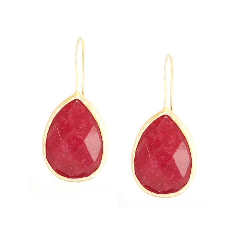 Urban Gem Ruby Drop Earrings