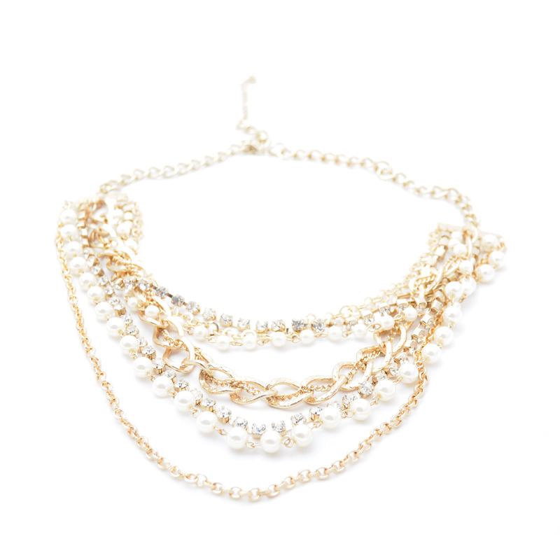 Urban Gem Gold & Stone Layered Necklace