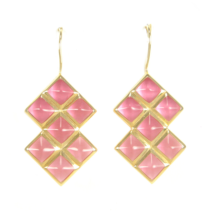 Lucas Jack Trixie Earrings in Pink Tourmaline