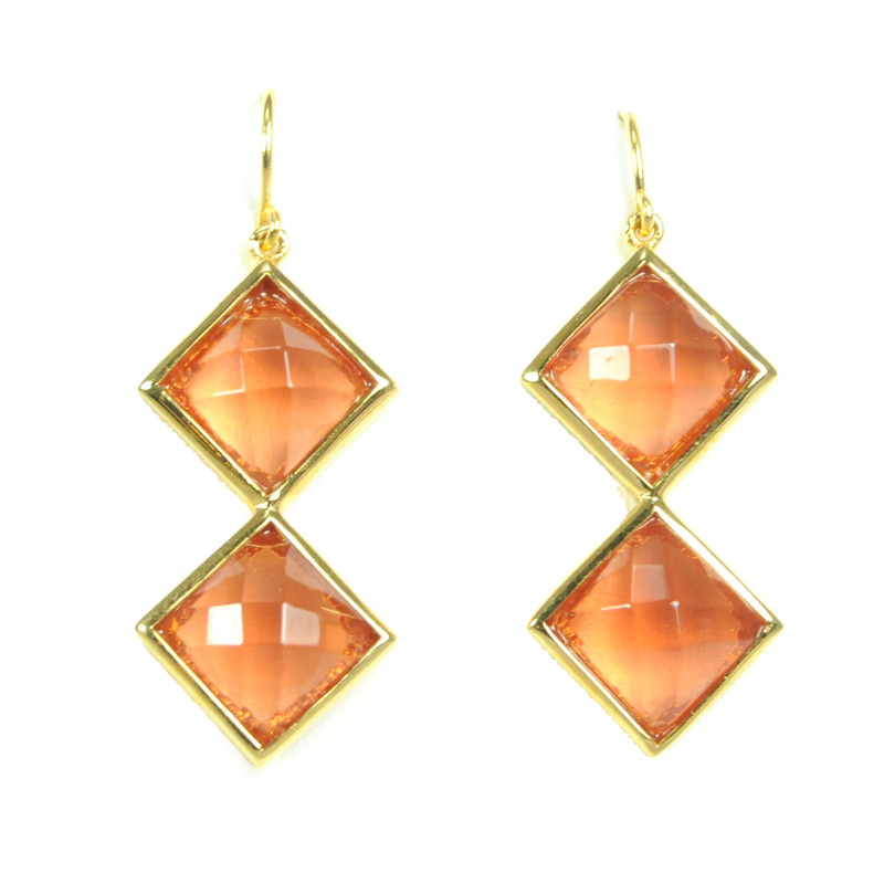 Lucas Jack Kiara Earrings in Orange Carnelian
