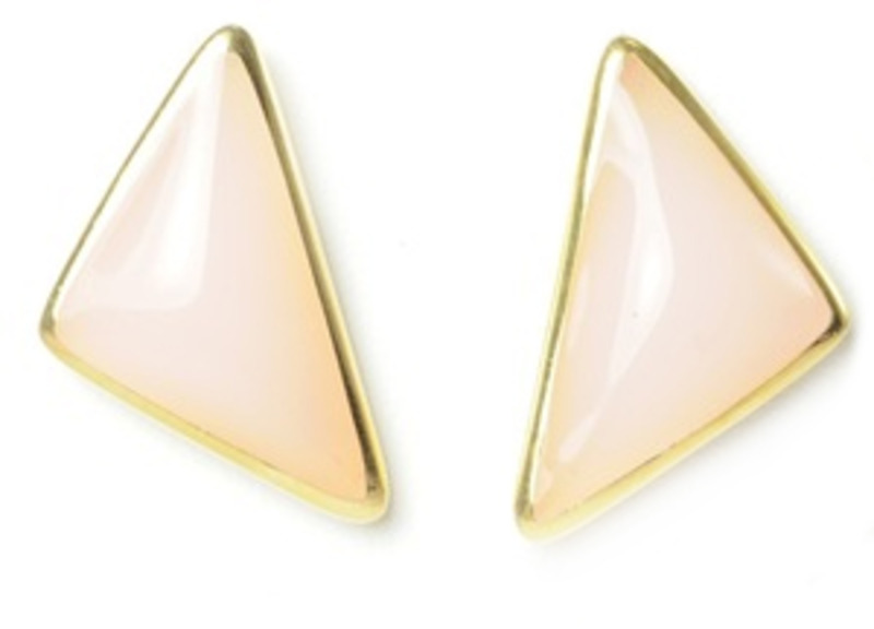Lucas Jack Lola Earrings in Rose Quartz