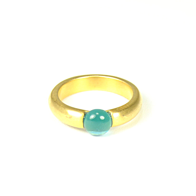 Lucas Jack Small Embedded Electric Blue Stone Ring