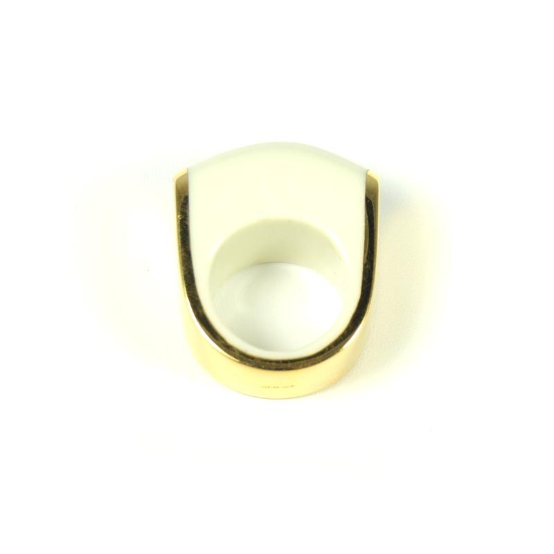 Lucas Jack U Ring in White
