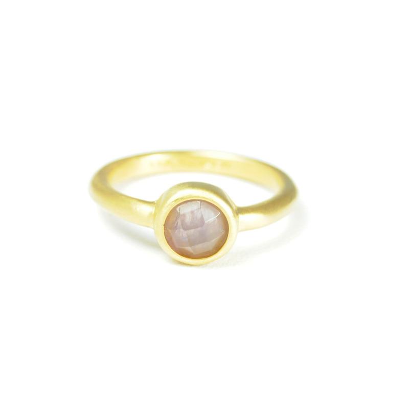 Lucas Jack Simple Round Ring in Amethyst