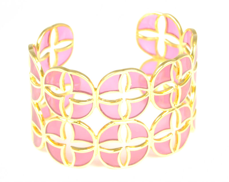 Lucas Jack Fan Cuff in Tourmaline Pink