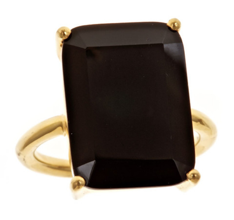 Margaret Elizabeth Emerald Cut Ring in Black
