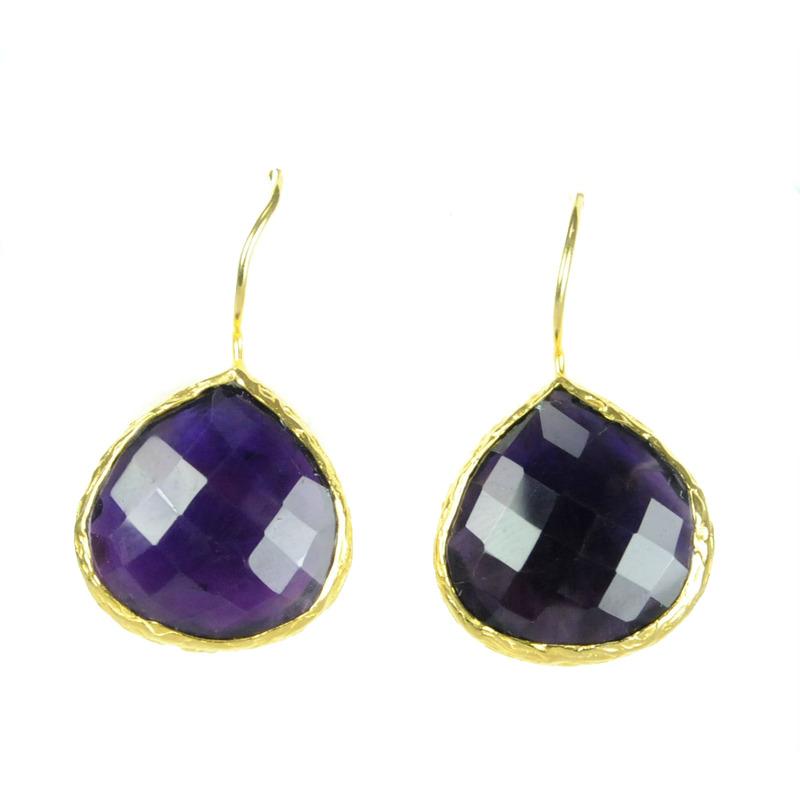 Margaret Elizabeth Teardrop Bezels in Purple