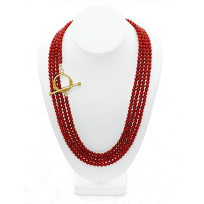 Margaret Elizabeth Coral Wrap Necklace