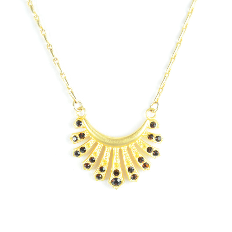 Angel Court Thessaly Necklace in Mocca