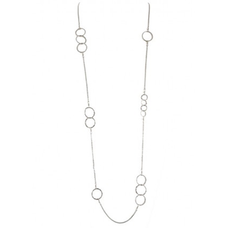 Charlene K Sterling Silver Circle Chain Necklace