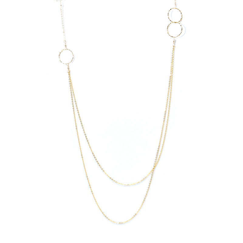 Charlene K Gold Circle Chain Necklace