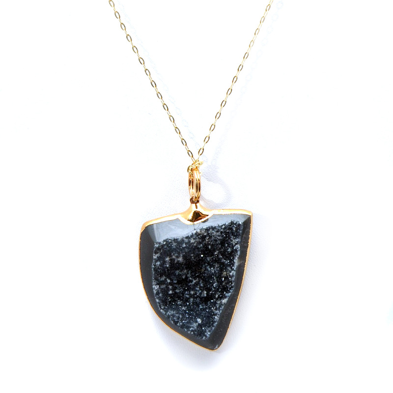 Charlene K Druzy Necklace in Black