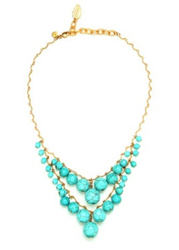 David Aubrey Double Layer Turquoise Necklace