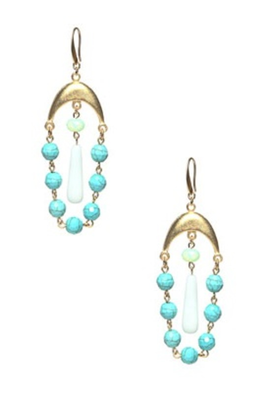 David Aubrey Turquoise and Glass Earrings