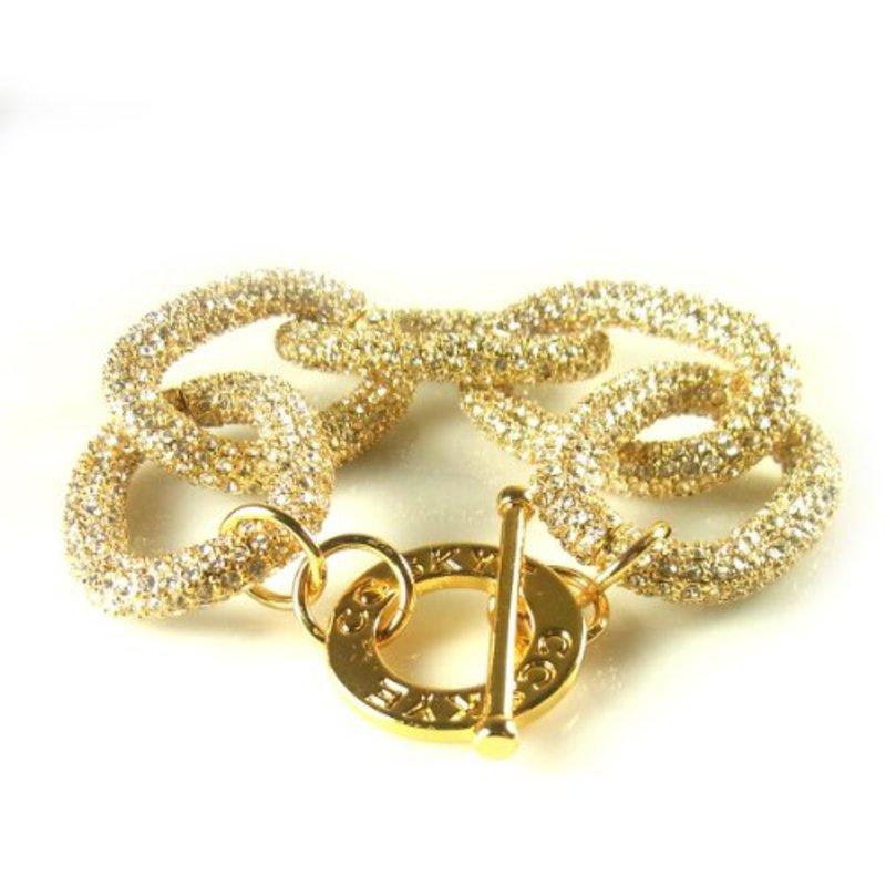 CC Skye Chunky Pave Chain Link Bracelet