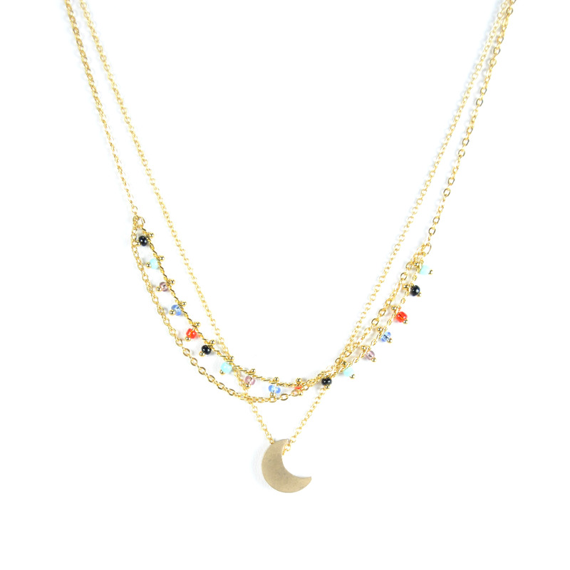 Urban Gem Among the Moon and Stars Necklace