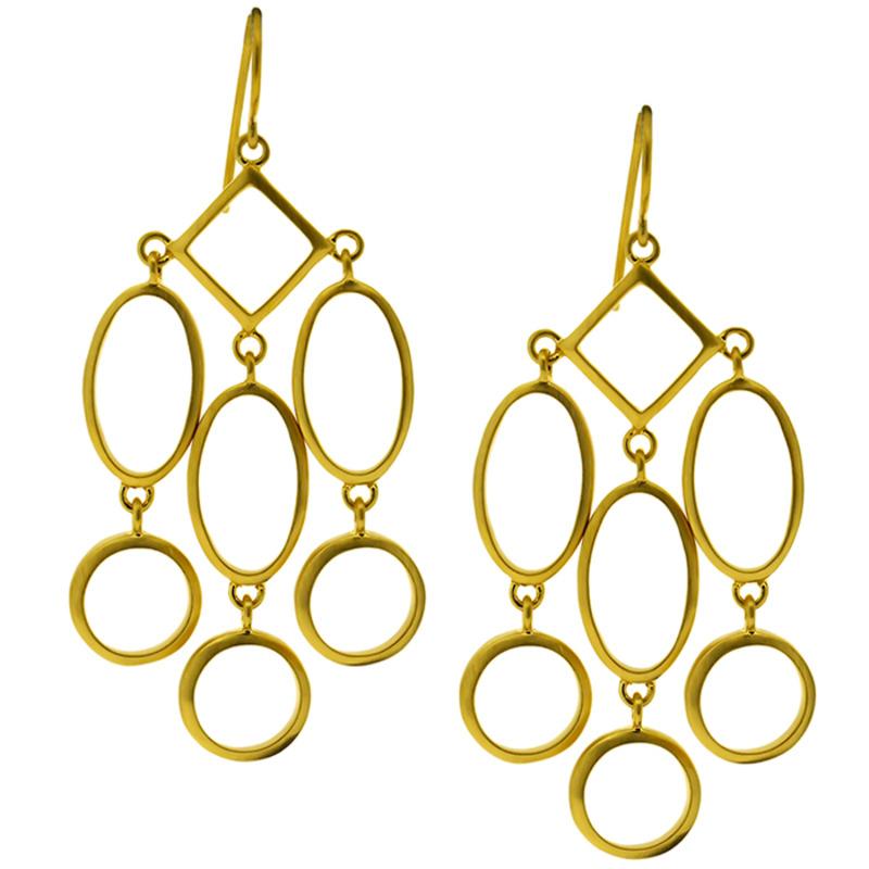 Lucas Jack Geometry Earrings in Gold
